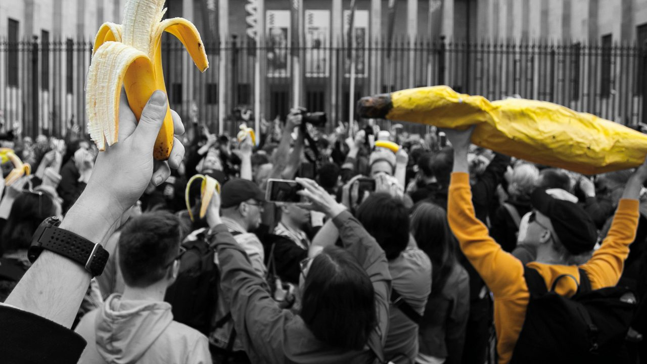 Advocacy Is A Banana-Eating Army At The Musuem