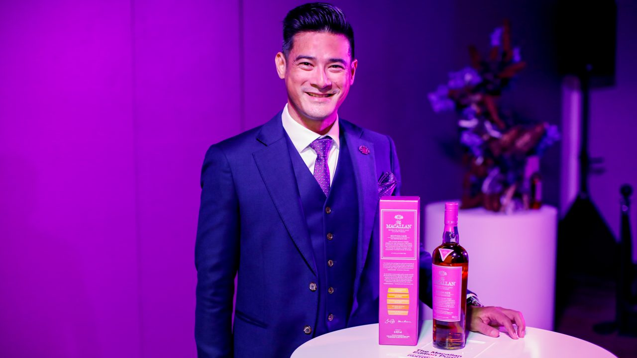 Do You Part Your Lips When You Nose Your Whisky? Actor Randall Tan Does — And It's Not To Look Good For The Camera.