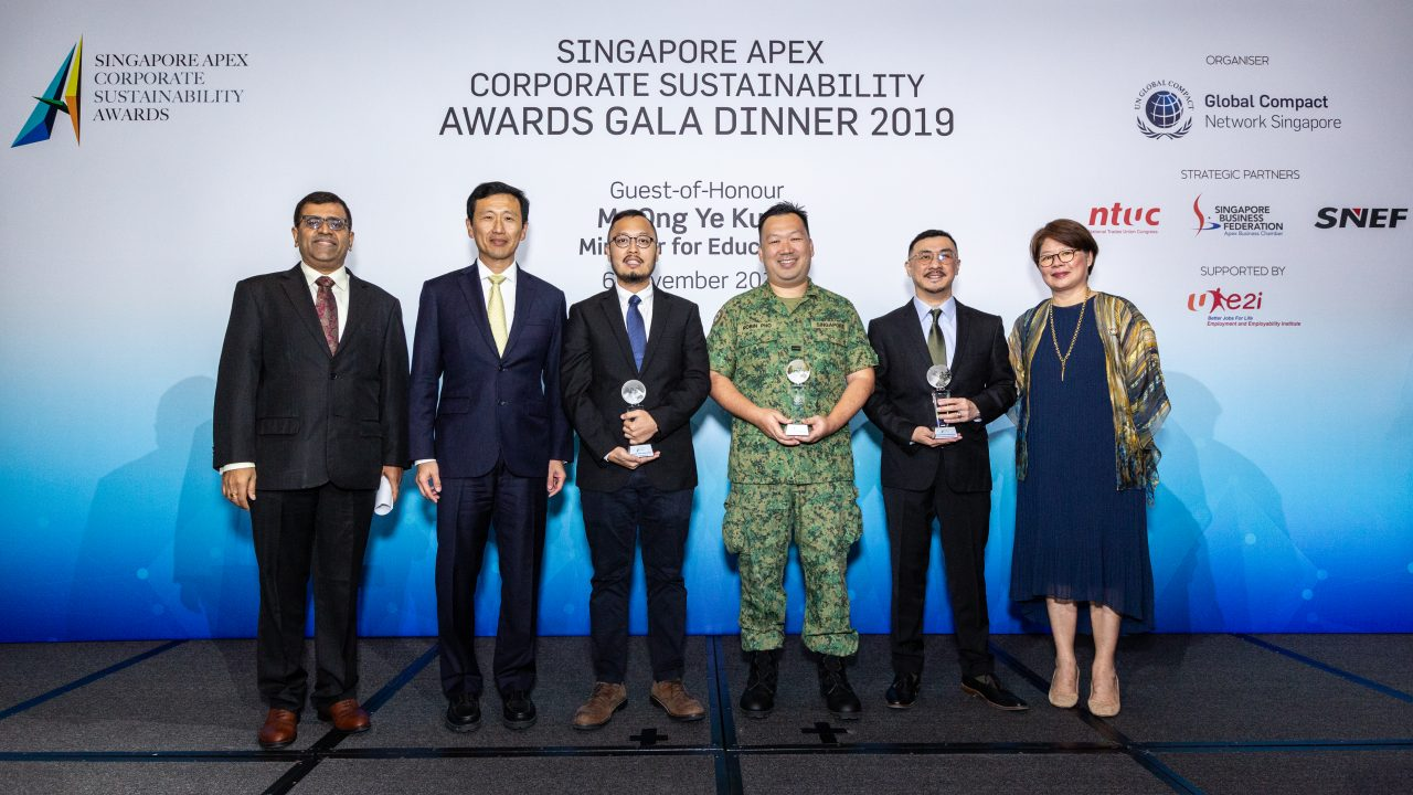 Getting The Green Light At The Singapore Apex Corporate Sustainability Awards Gala Dinner 2019
