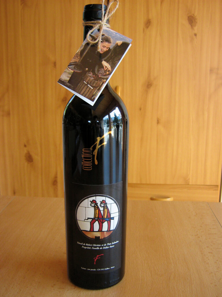 Farinet wine from what is easily the world's smallest producing vineyard, in Saillon, Switzerland